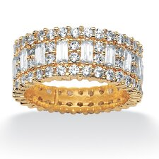 Gold Plated Cubic Zirconia Eternity Band