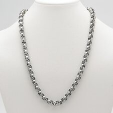 Stainless Steel Men's Rolo-Link Necklace
