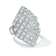 Platinum Plated Diamond Ultra Marquise Ring