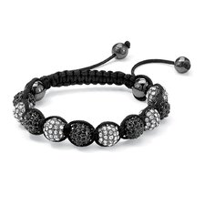 Black and White Crystal Ball Bracelet