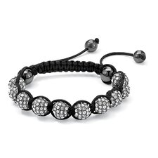 White Crystal Ball Bracelet