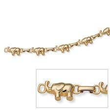 "7"" Goldtone Elephant Bracelet"