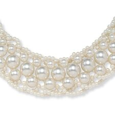 Goldtone Simulated Cultured Pearl Collar