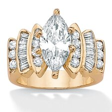 14k Gold Plated Cubic Zirconia Ring
