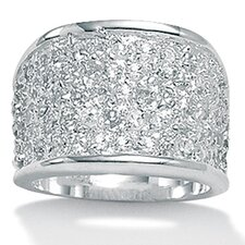 <strong>Palm Beach Jewelry</strong> Cubic Zirconia Silver Ring