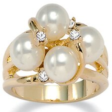 Simulated Cultured Pearl Ring