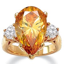 <strong>Palm Beach Jewelry</strong> Pear - Shaped Champagne Cubic Zirconia Ring