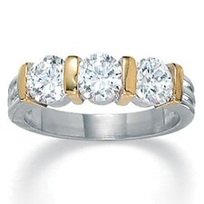Cubic Zirconia Tutone Ring