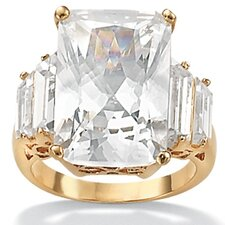 <strong>Palm Beach Jewelry</strong> Cubic Zirconia 18K / Sterling Silver Ring