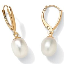 <strong>Palm Beach Jewelry</strong> Cultured Pearl 14K Gold Earrings