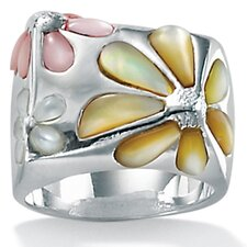 Mother of Pearl SS Daisy Ring