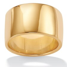 <strong>Palm Beach Jewelry</strong> Wide 18K / Sterling Silver Wedding Band