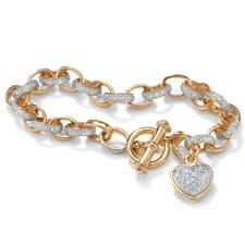 <strong>Palm Beach Jewelry</strong> Heart Charm Bracelet
