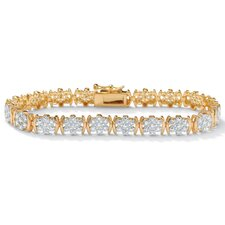 Diamond 18K / Sterling Silver Bracelet