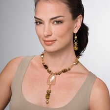 Tiger's Eye Necklace / Earring Set