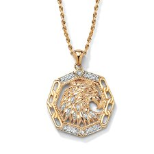<strong>Palm Beach Jewelry</strong> Men's Diamond Accent Eagle Pendant