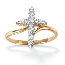 Diamond Accent Cross Ring