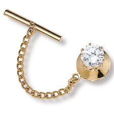 <strong>Palm Beach Jewelry</strong> Men's Cubic Zirconia Tie Tac