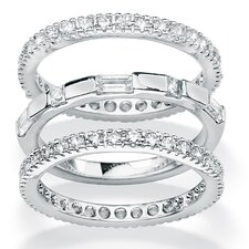 <strong>Palm Beach Jewelry</strong> Cubic Zirconia Eternity Bands (Set of 3)