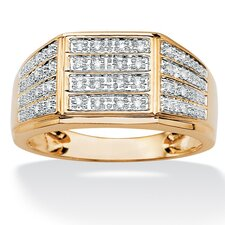 <strong>Palm Beach Jewelry</strong> Men's Multi-Row Diamond Ring
