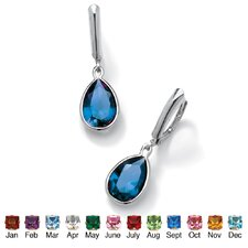 Pear-Shaped Birthstone Earrings