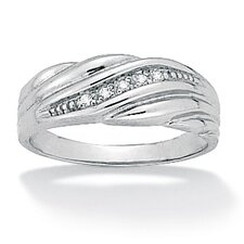 Men's Diamond Accent Wedding Band