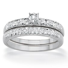 Round Diamond Wedding Ring Set