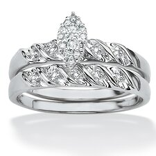 <strong>Palm Beach Jewelry</strong> Two-Piece Diamond Wedding Ring Set
