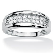 Round Diamond Double-Row Ring