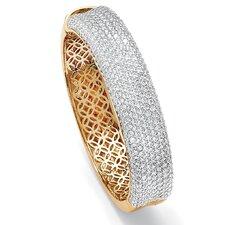 Round Cubic Zirconia Bangle Bracelet