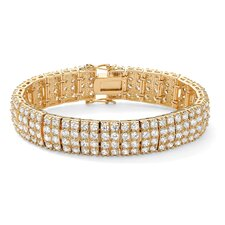 Multi-Row Cubic Zirconia Tennis Bracelet