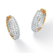 <strong>Palm Beach Jewelry</strong> Cubic Zirconia Huggie Earrings