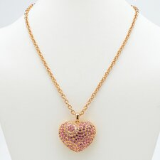 <strong>Palm Beach Jewelry</strong> Pink Crystal Heart Pendant