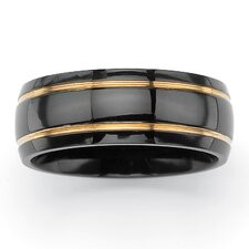 <strong>Palm Beach Jewelry</strong> Grooved Wedding Band