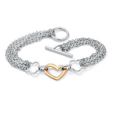 Free-Form Heart Chain Bracelet