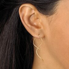 <strong>Palm Beach Jewelry</strong> Free-Form Spiral Pierced Earrings