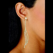 <strong>Palm Beach Jewelry</strong> White Crystal Curved Drop Earrings
