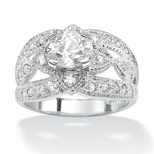 <strong>Palm Beach Jewelry</strong> Oval and Round Cubic Zirconia Ring