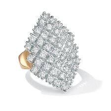 Cubic Zirconia Marquise-Shaped Ring