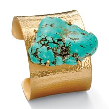 <strong>Palm Beach Jewelry</strong> Turquoise Nugget Cuff Bracelet