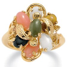 14K Multi - Stone Gold - Plated Ring