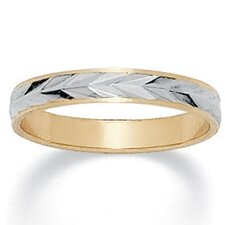 <strong>Palm Beach Jewelry</strong> Tutone Wedding Band