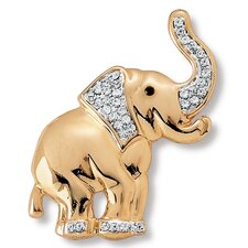 Crystal Elephant Pin