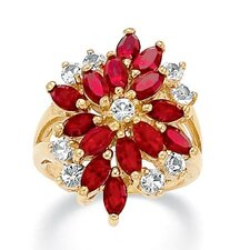 <strong>Palm Beach Jewelry</strong> 14K Gold Plated Marquise Crystal Ring