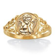 10K Gold Angel Ring