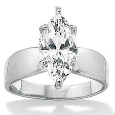 <strong>Palm Beach Jewelry</strong> Sterling Silver Marquise Cubic Zirconia Ring