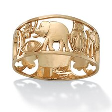 "<strong>Palm Beach Jewelry</strong> 14k Gold ""Good Luck"" Ring"