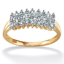 <strong>Palm Beach Jewelry</strong> 10k Gold Diamond Peak Ring