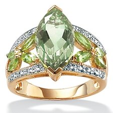 10k Gold Amethyst and Peridot Ring