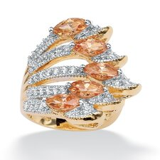 <strong>Palm Beach Jewelry</strong> 14k Gold Plated Marquise Cubic Zirconia Ring